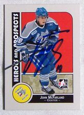 John McFarland Sudbury Wolves 2008-09 In The Game Heroes & Legends Signed Card