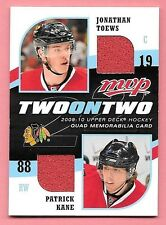 09/10 UD MVP 2 On 2 J Toews P Kane H Zetterberg P Datsyuk Quad Jersey Card