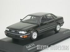 AUDI V8 SEDAN 1988 SATIN SCHWARZ METALLIC BLACK 1/43 MINICHAMPS 400016000  NEU