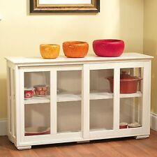 Modern Storage Cabinet White Sideboard Buffet Cupboard Pantry Kitchen Dining New