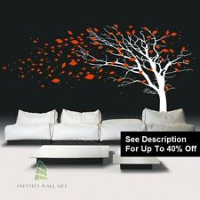 Wall Stickers Tree Bird Family Tree Flower Nursery Kids Wall Art Sticker-4-D412