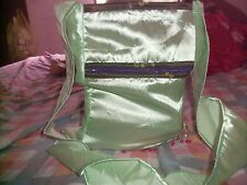 FUNKY WOMENS LADIES FESTIVAL  SCHOOL / BEACH, SHINY LIME COLOUR TRENDY HAND BAG