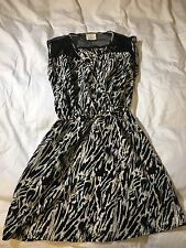 Zebra Print Dress Urban Outfitters XS Black And White