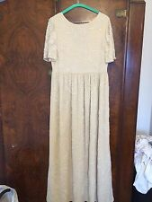 Asos Cream Maxi Dress Embellished Size 12