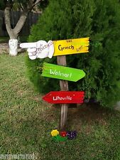 GRINCH Sign Whoville CHRISTMAS Yard Art Decoration Decor 47""