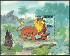 Togolaise/Togo 1980 Disney/Lion/Goofy/Cat/Wildlife/Animation/Cartoons m/s b6502