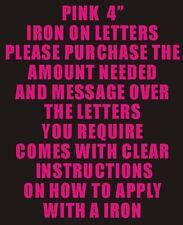 """10 4 """"Rosa de hierro a las letras y números de transferencia de impresión"""