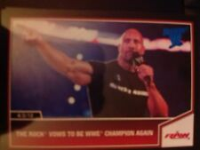 2013 Topps Best of WWE #1 The Rock Vows to be WWE Champion BLUE Parallel