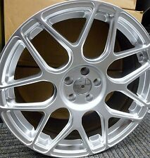 "18"" HYPER SILVER ALLOY WHEELS 5X100 TO FIT VW GOLF BORA BEETLE & SEAT LEON"