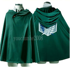 COSPLAY ATTACK ON TITAN SHINGEKI NO KYOJIN SCOUTING LEGION CLOAK CAPE S-34270