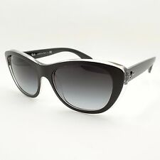 Ray Ban 4227 6052/8G 55mm Matte Black on Transparent New Authentic