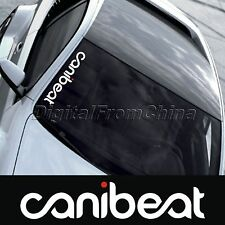 Reflective Funny Hellaflush Canibeat Car Front Windshield Window Decal Sticker