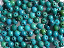 25 Azurite Chrysocolla Round Gemstone Jewellery Beads 6mm