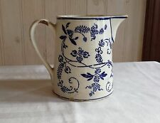 G.M.T. Antique German Germany Flow Blue and White Pitcher