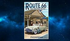 Route 66 Pasadena Travel Poster Fridge Magnet. NEW. The Mother Road