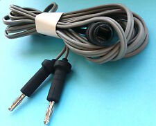 REUSABLE BIPOLAR EUROPEAN CABLES 3 MTR LONG,4MM PIN VETERINARY, SURGICAL CE.