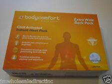 NEW Body comfort Click Activated Instant Heat Pack-Extra Wide BackPack Unscente
