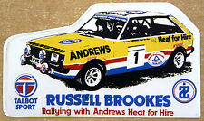 Russell Brookes Talbot Sunbeam Pace Petroleum Rally / Motorsport Sticker Decal