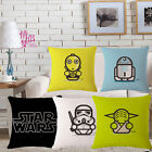 Cute Star Wars Throw Pillow Case Cotton Linen Sofa Home Decorative Cushion Cover