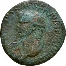 Ancient Rome  41-54 AD Claudius  Large AE As Minerva Shield SPEAR