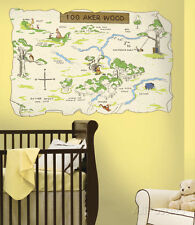 Winnie the Pooh - 100 Aker Wood Peel & Stick Map Wall Decal Sticker - 39x26