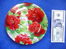 Helios Plate Red Peony Bone China 7 1/2 inches