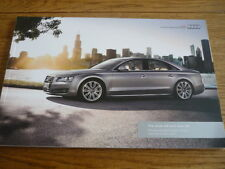 AUDI A8 & S8 ILLUSTRATED PRICES & SPECIFICATIONS CAR BROCHURE OCT. 2012 FOR 2013
