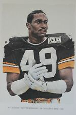 Dwayne Woodruff MVP Pittsburgh Steelers Super Bowl Merv Corning NFL Legend Litho