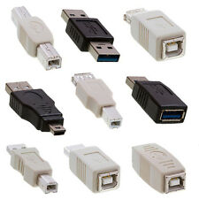 Mini USB Adapters 2.0 A Male to Female USB conectors 3.0 Convertors NEW