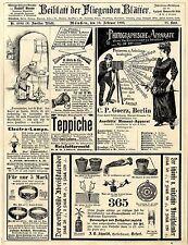 J.C. Schmidt Erfurt Arbeitskalender C.P. Goerz Berlin Photographische App...1893