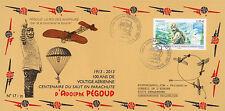 """PEG13-2A FDC """"100 years Parachute Jump Aldophe PEGOUD"""" (Petit-Croix) 2013"""