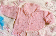 "Pretty Lacy Baby Classics ~ Sweater & Cardigans  DK 14"" - 20"" Knitting Pattern"