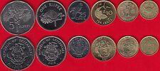 Seychelles set of 6 coins: 1 cent - 5 rupees 2004-2012 UNC