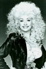 "Dolly Parton 4""x6"" super busty white lace black leather picture photo sexy v"
