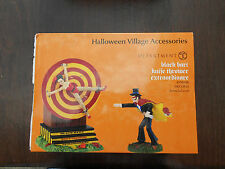 DEPT 56 HALLOWEEN VILLAGE Animated Accessory BLACK BART KNIFE THROWER NIB
