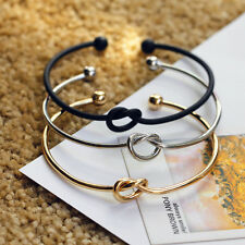 God Open Cuff Bangle Bracelet Copper  Wire Tie The Knot Bangle Bridesmaid Gift