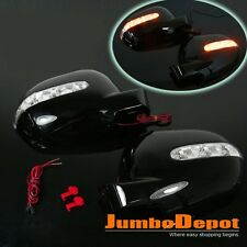 For MERCEDES W163 M-CLASS ML320 ML55 AMG Black Side Mirror Cover w/LED Blinker
