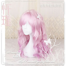 New Harajuku Curly Cosplay Long Wig Kawaii Sweet Lolita Pink Princess Japanese