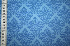 Farbenmix Love Keys Jersey T-Shirt Stoff blau  1m