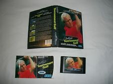 SEGA Mega Drive Gioco: TOURNAMENT GOLF IN BOX + MANUALE  PAL