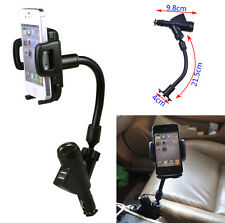 3 IN 1 Dual USB Ports Car Charger + Mount Holder for Cell Phone GPS PDA