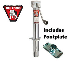 """Bulldog 5,000 lbs Round A-Frame Trailer Jack Sidewind 15"""" Lift Zinc w/ Footplate"""