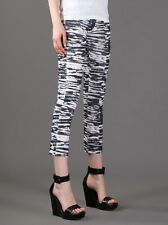ISABEL MARANT SZ FR40 UK12 US8 IT44 BLACK WHITE TIGER JEANS CORDS PANTS TROUSERS