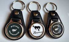 FORD BRONCO KEYCHAIN 3 PACK black and white logo