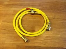 """60"""" R-12 Yellow Charging Hose With Shut-off Valve"""