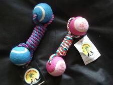 Braided Rope Middle with Balls, Paws Paradise + Plutos Pets Quality Pet Toys Dog