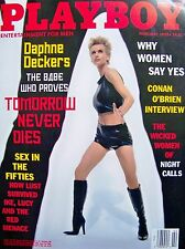 JAMES BOND + 007 + PLAYBOY + 1998 + DAPHNE DECKERS + PIERCE BROSNAN +