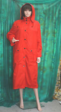 FOUR SEASOS Lady's lovely red Nylon rubber backed Polly fashion raincoat + hood