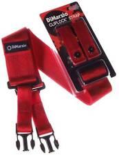 Dimarzio dd2200rd CLIPLOCK 2 pouces sangle pour guitare rouge