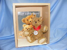 Steiff Teddy Bear 100 Years Bear & Book Jointed 038884 Limited Edition RARE